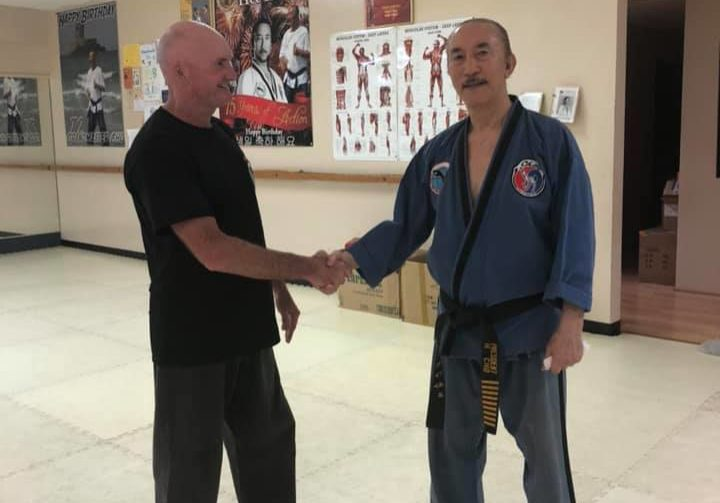 Grandmaster Hee Il Chow and Master Darren Owens